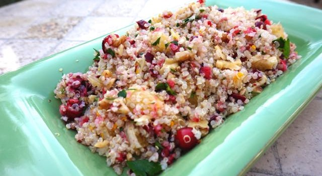 Quinoa Salad with Cranberries and Orange