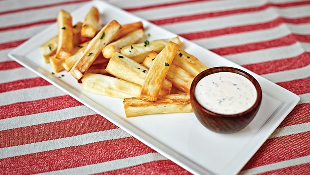 Yuca Fries with Cilantro Dipping Sauce
