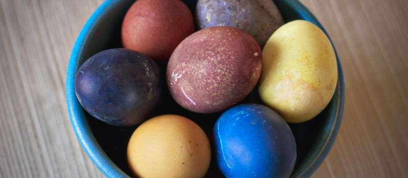 Easter Eggs Made with Natural Food Dye Savor Culinary Services