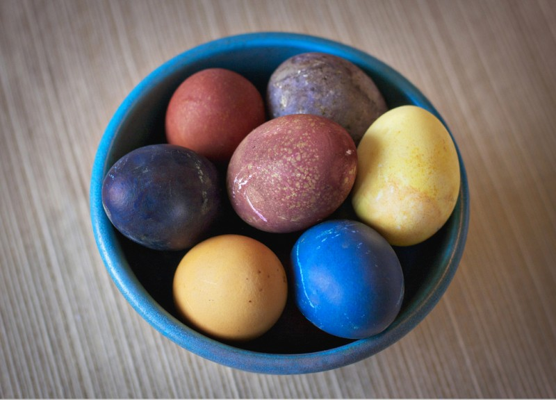 Easter Eggs Made with Natural Food Dye