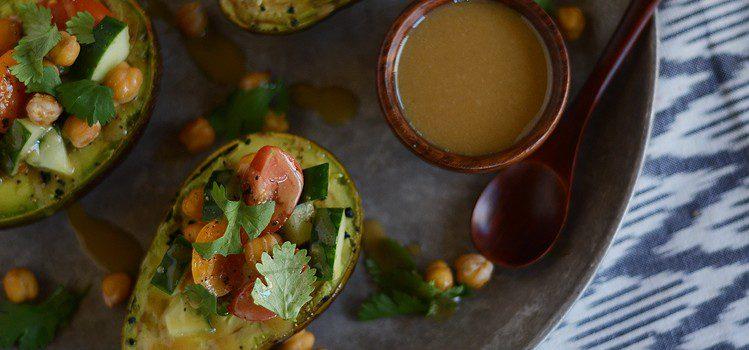 Greek Style Stuffed Avocados