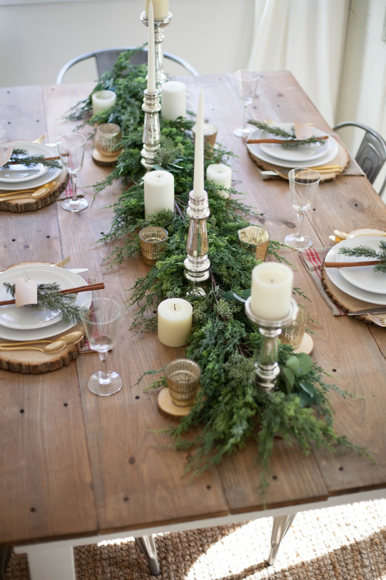 Holiday Table Decoration Ideas Part - 41: Farm-table-holiday-tablescape