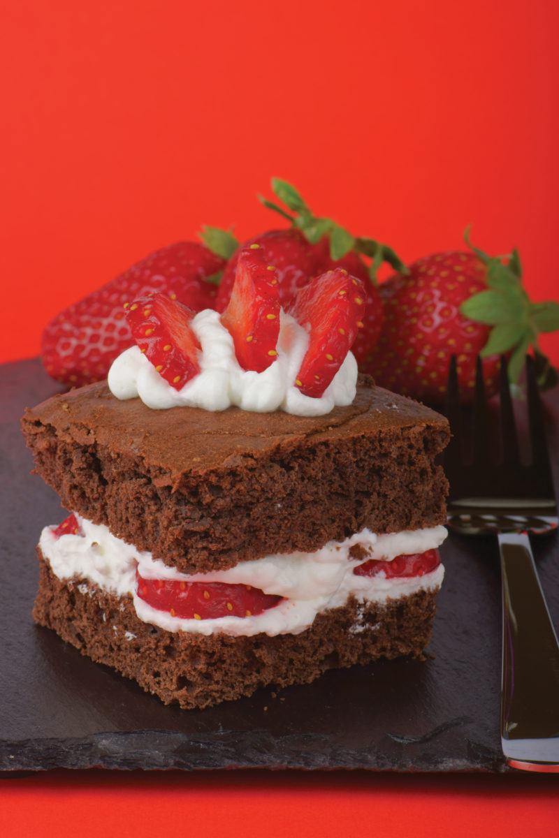 Double-Chocolate-Paleo-Brownie-Stacks Valentine's Day Savor Culinary Services