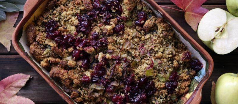 Vegan & Gluten-Free Quinoa Cranberry Stuffing Savor Culinary Services